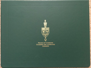The Certificate for my outstanding achievements in photography from House of Commons Canada