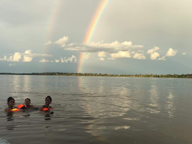 Swimming in the Amazon River