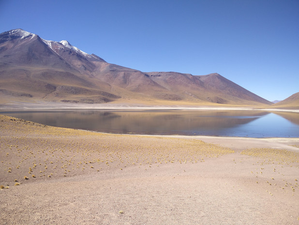 Pristine lakes in the Atacama Desert