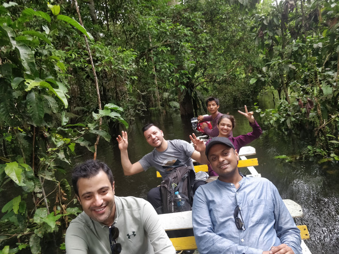 Floating down the Amazon River