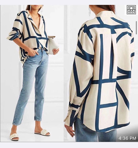 satin full sleeves  casualwear shirt.