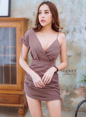 V-neck casual stretchable dress