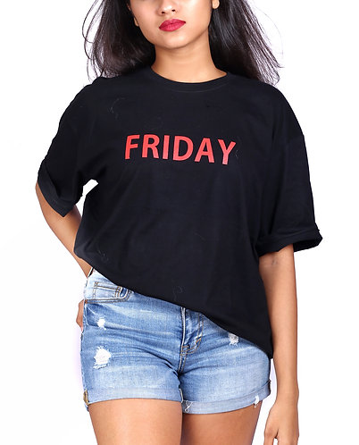 days printed casual tshirt for your working days