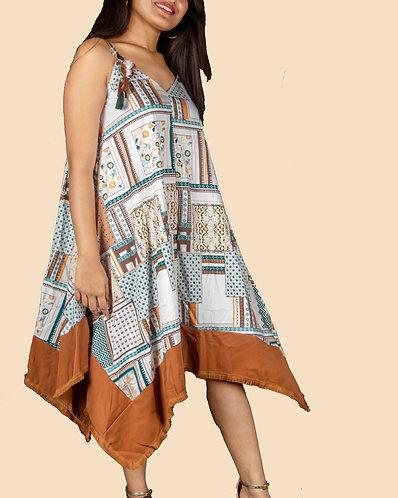Mini handherchief dress.