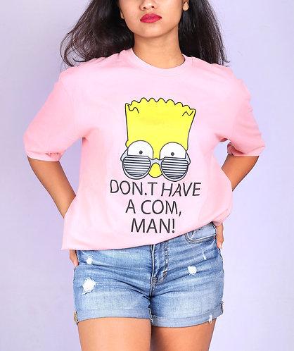 pink oversized simpson Tshirt.