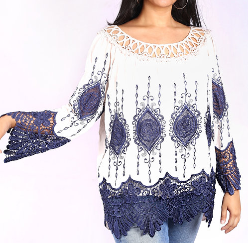 embroidered boho chic top.