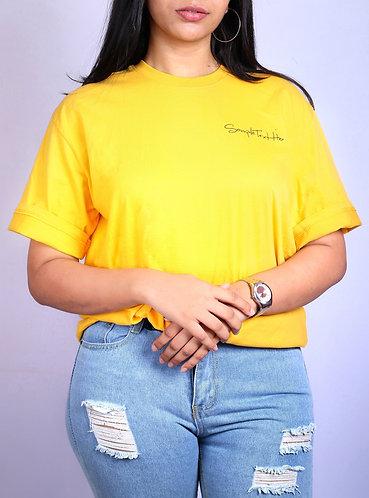 basic yellow/black over sized Tshirt.