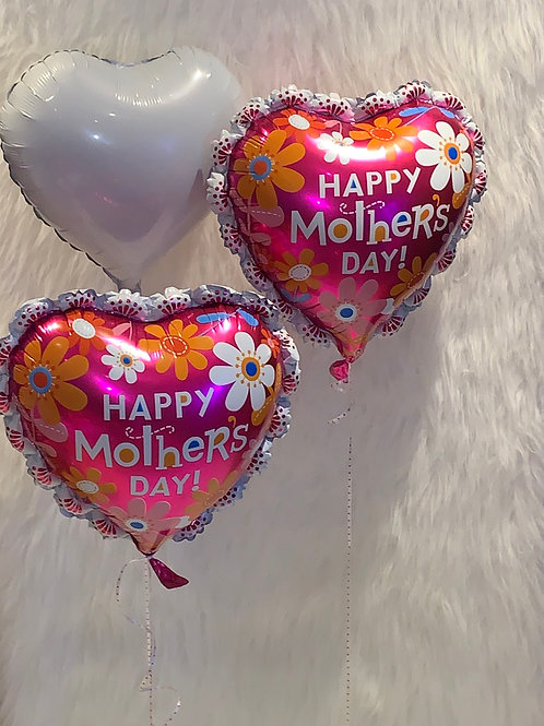 Happy Mother's Day pink Heart Flower Balloon