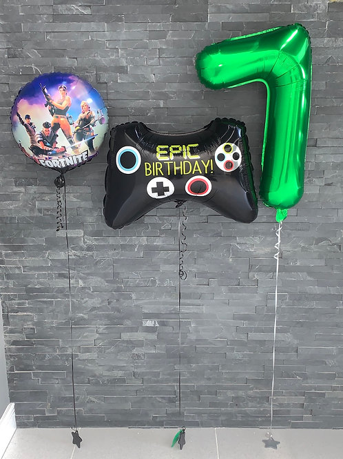 Gaming Birthday Number Foil Balloons