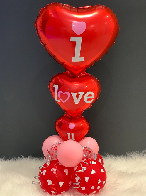 I love you Balloon Heart display