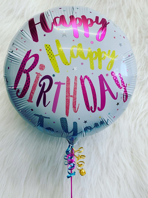 """Happy Birthday to you 18"""" inflated foil Balloon in a gift box"""