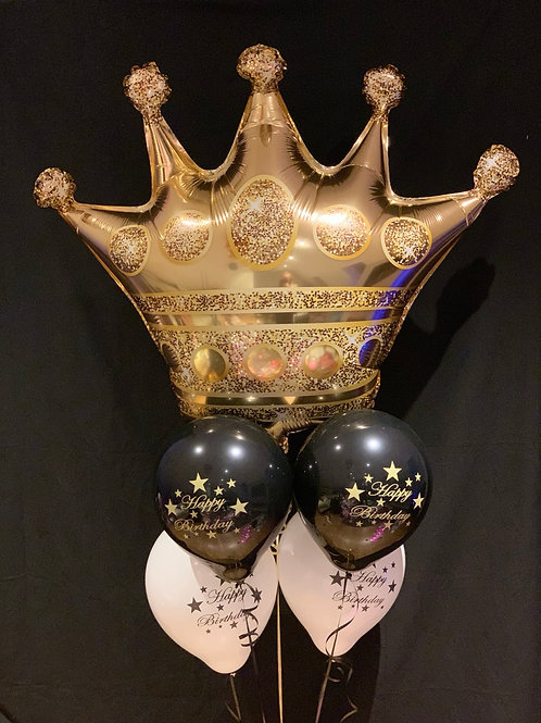 Crown inflated foil Birthday balloons