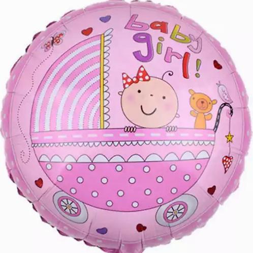 Baby girl pram Balloon