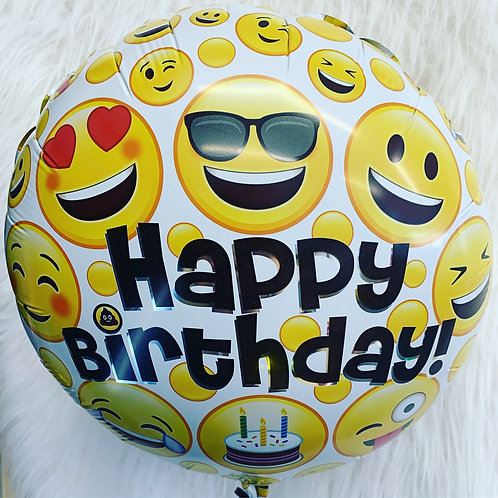 Happy Birthday Emoji Faces