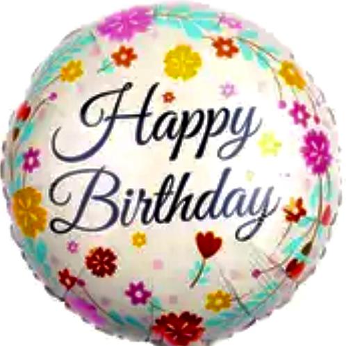 Happy Birthday Elegant Balloon