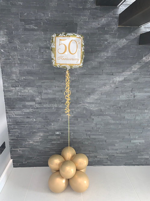 Milestone helium and air fill latex and foil displays