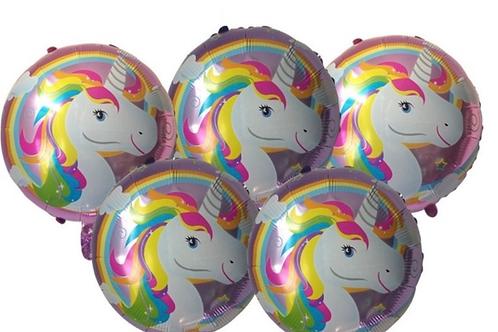 Unicorn Round Balloon