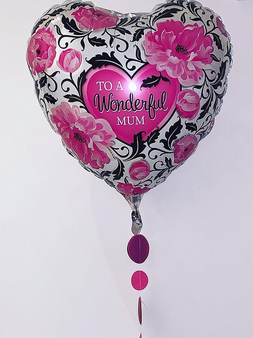 To A wonderful Mum Heart Balloon