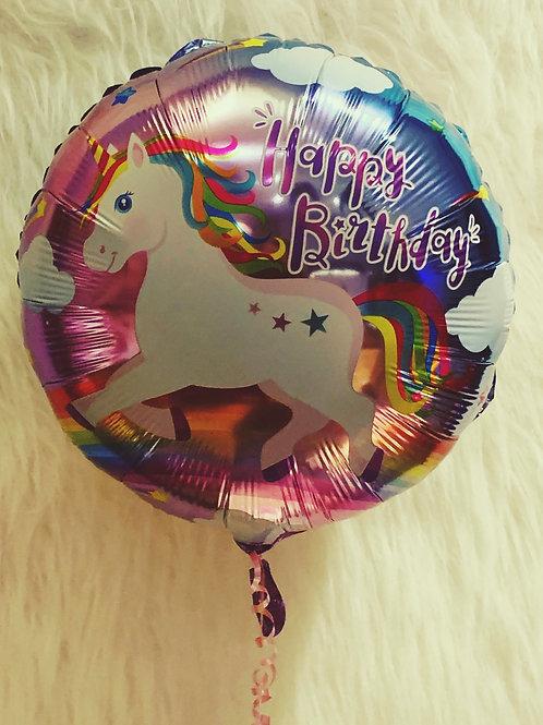 "Happy Birthday 18"" unicorn Balloon"