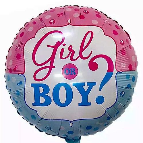 Boy or girl ? Inflated Balloon
