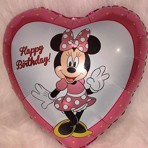 Minnie Mouse Heart Balloon