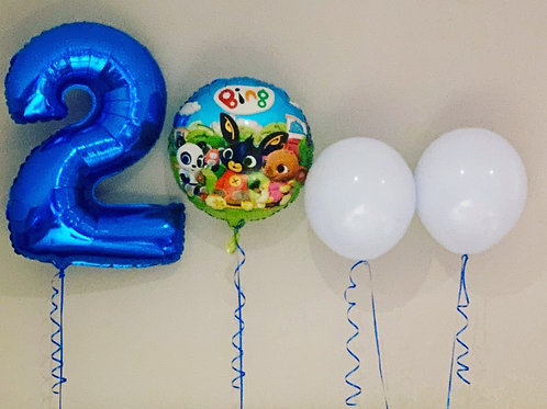 """Foil 32"""" Number with 18"""" Round foil & Latex display"""