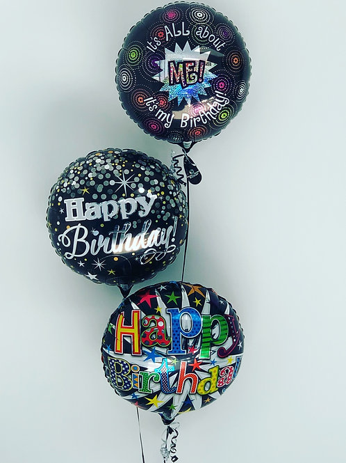 Happy Birthday foil inflated bouquets