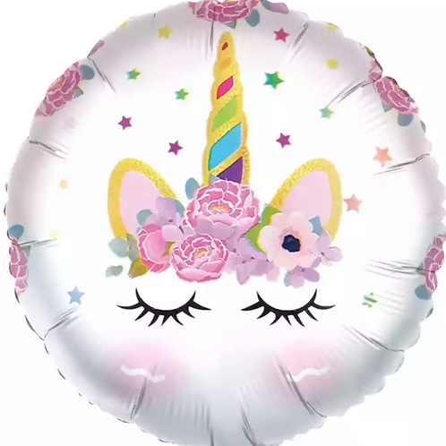 Unicorn eye lash balloon
