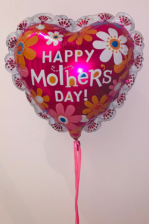 Happy Mother's Day pink love heart balloon