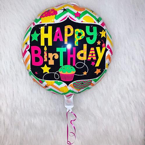 "Happy Birthday Cupcake 18"" Balloon"
