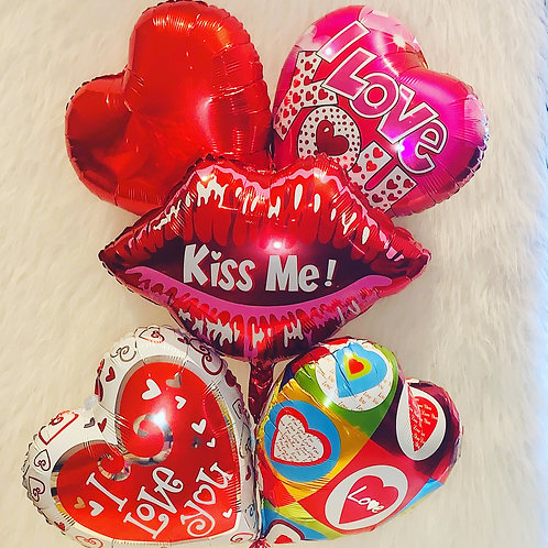 Kiss me I love you Balloon Bouquet