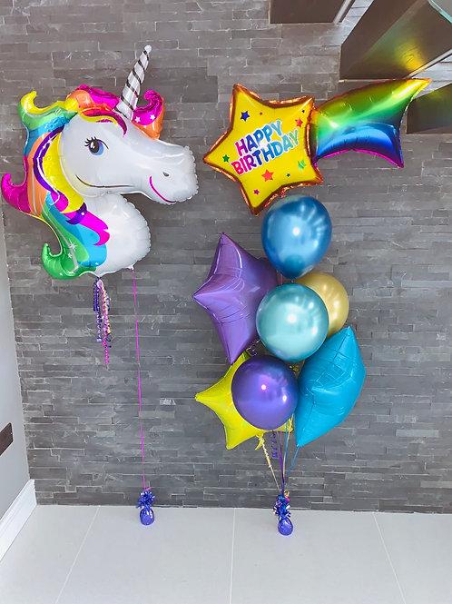 Unicorn foil & Latex Stars bouquet
