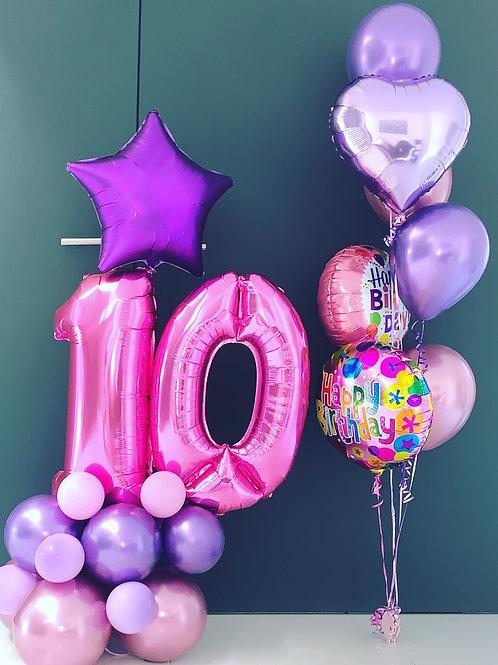 10th Birthday Display