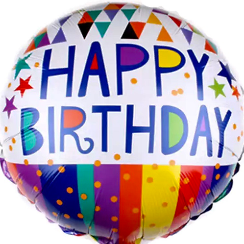Happy Birthday multi colour balloon