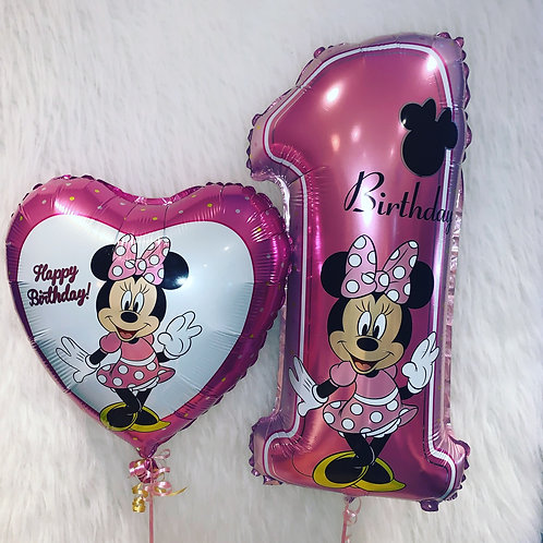 Minnie 1st Birthday Foil Balloons