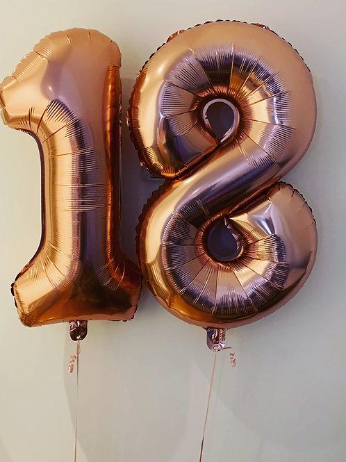 """18 Rose Gold 32"""" Foil"""