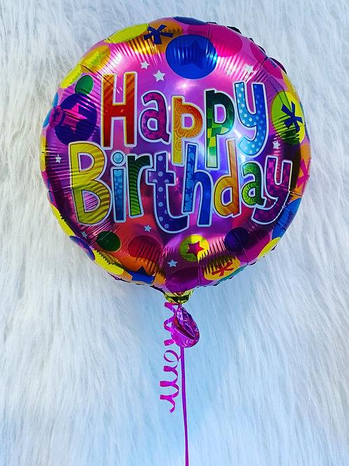 "Pink spots & stars 18"" foil Balloon"