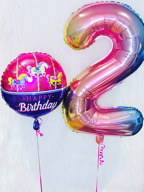 "Foil number & 18"" Round Balloon"