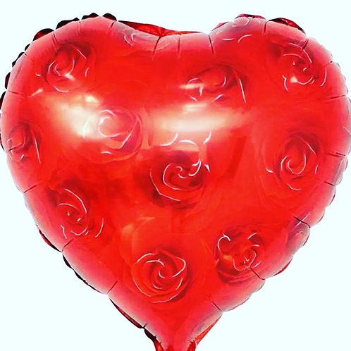 Red Rose Love heart Balloon