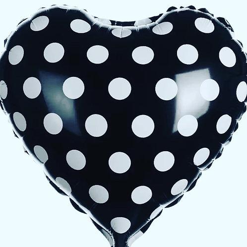 Love Heart Spotty Balloons