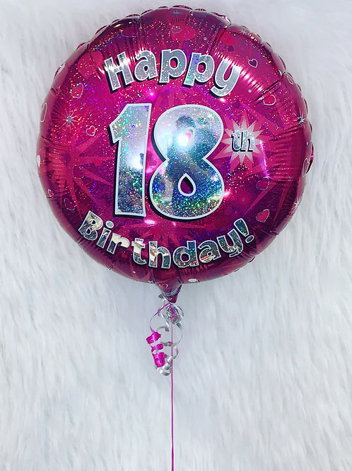 Happy 18th Birthday inflated Balloon in a gift box