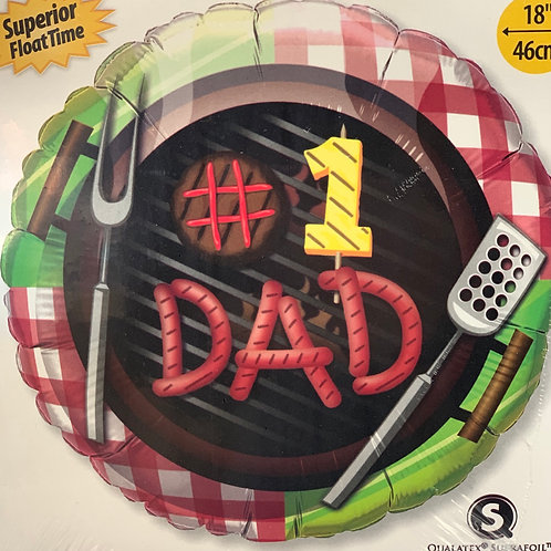 #1 DAD Fathers Day Inflated Balloon