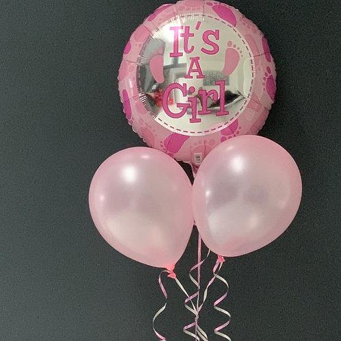 Baby girl custom balloons