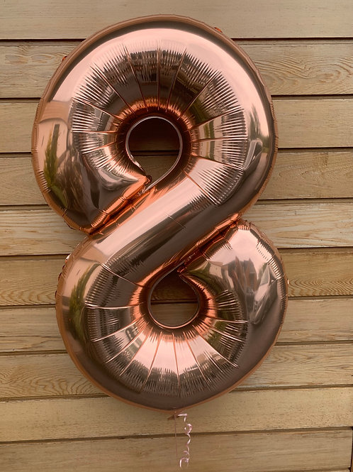 "34"" Rose gold Inflated Numbers"