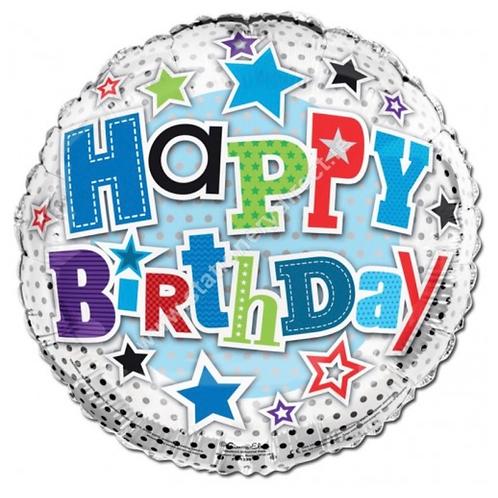 Happy Birthday stars  Balloon