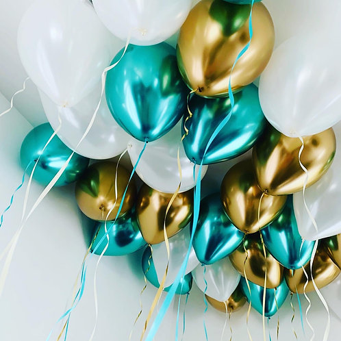 Free floating latex balloons