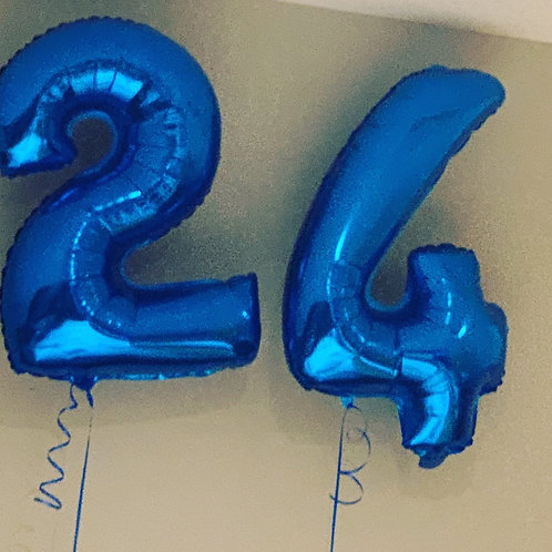 "32"" Foil Blue Numbers"
