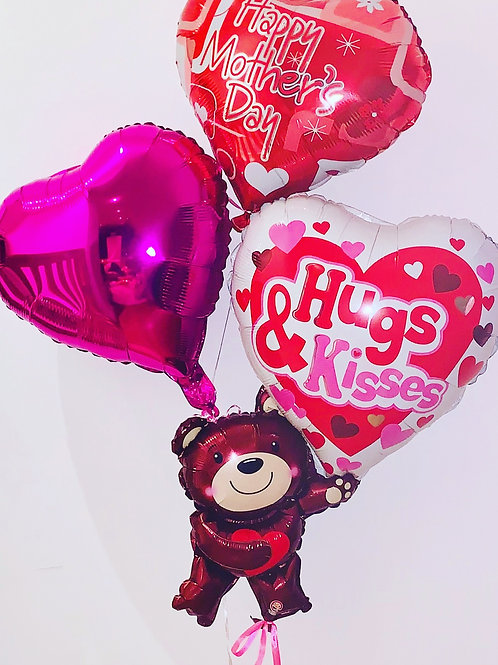 Personalised celebration Heart Bouquets