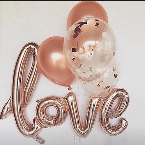 Single foil love balloon