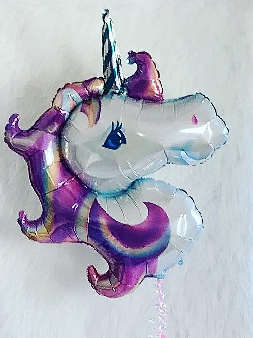 Unicorn Head floating Balloon
